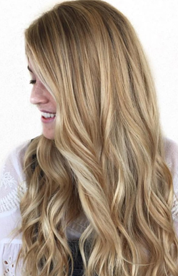 Beautiful Honey Blonde from @hairby_britts